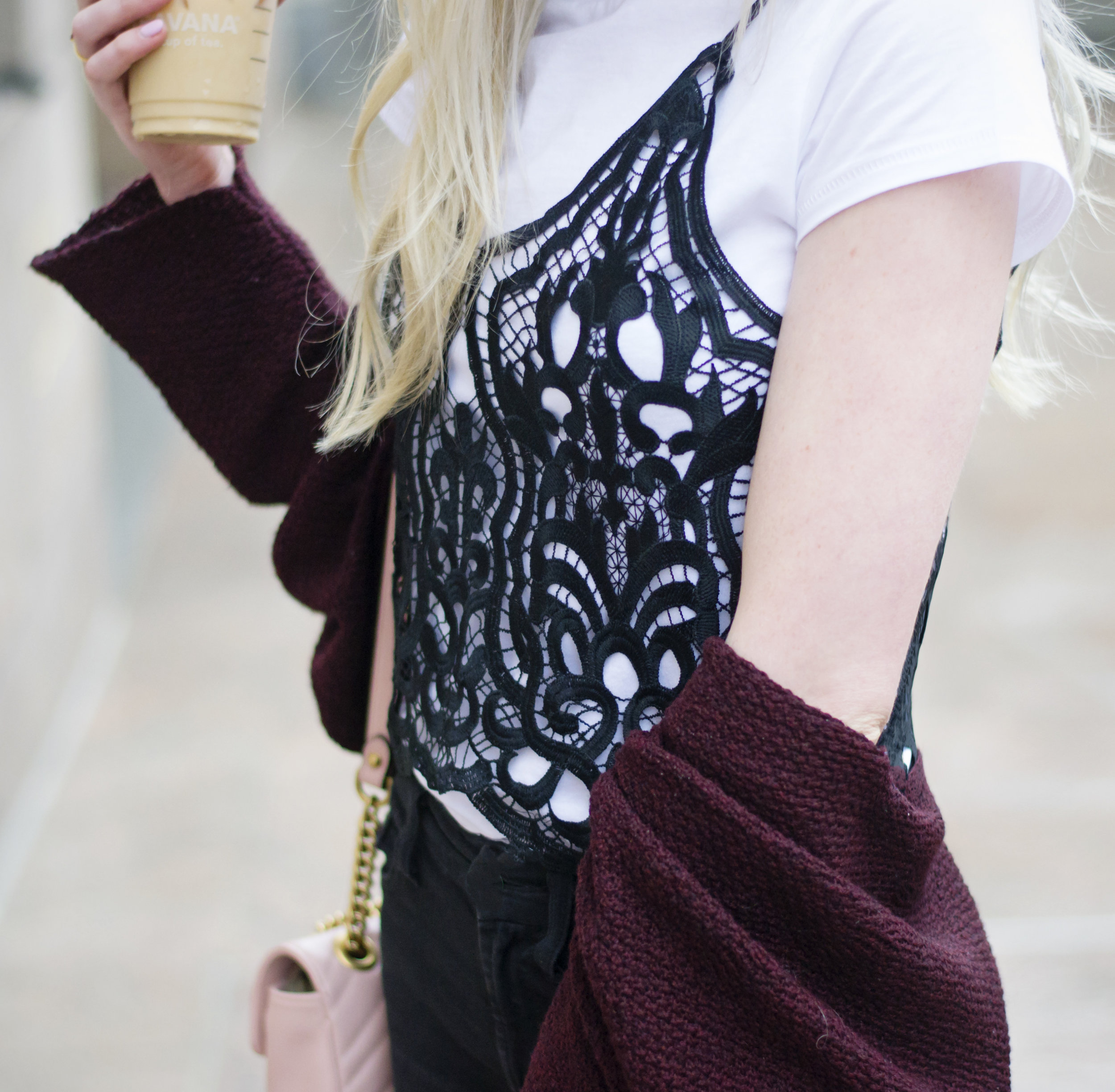 Layered Lace Cami Street Style