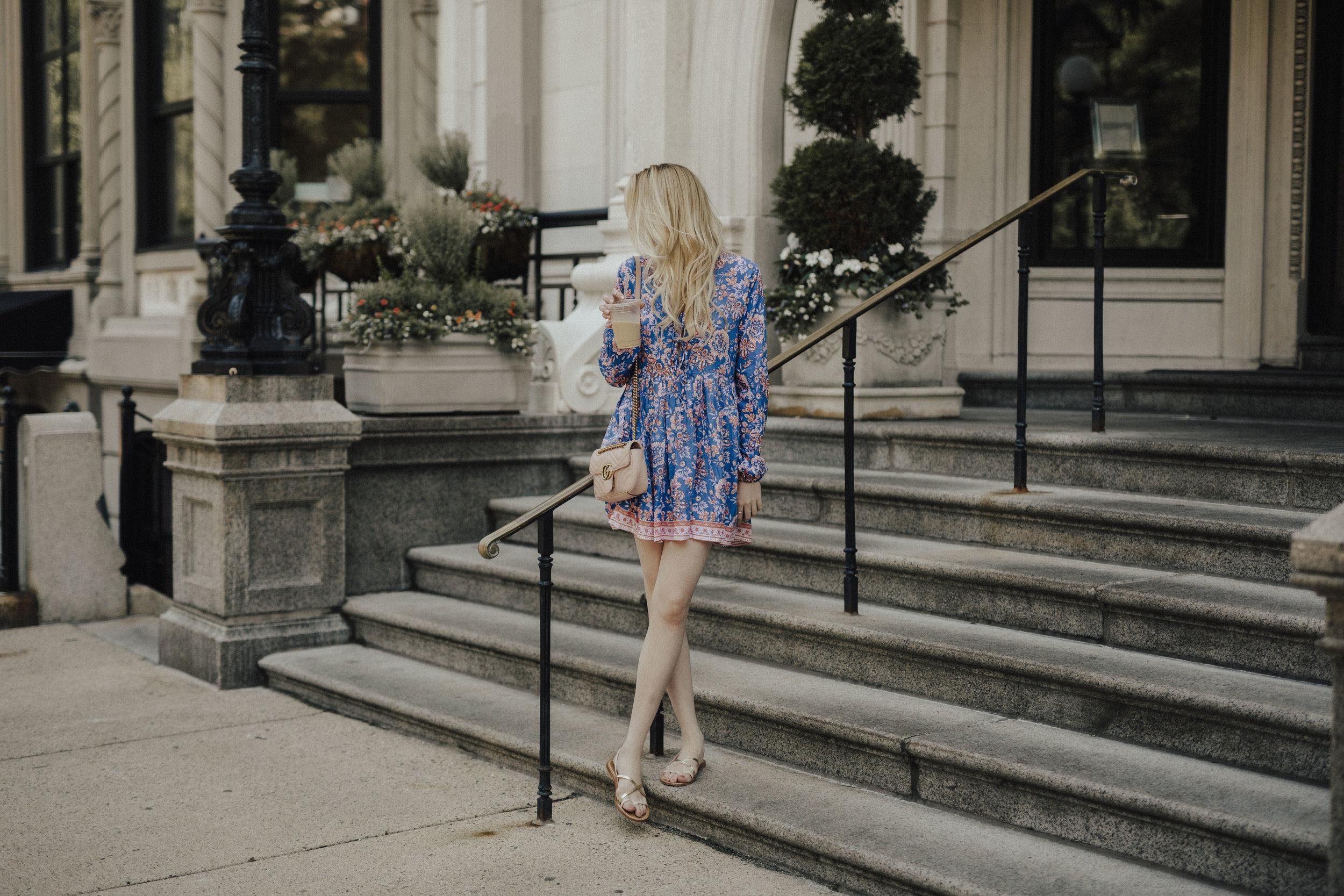 Pink Blue Summer Dress