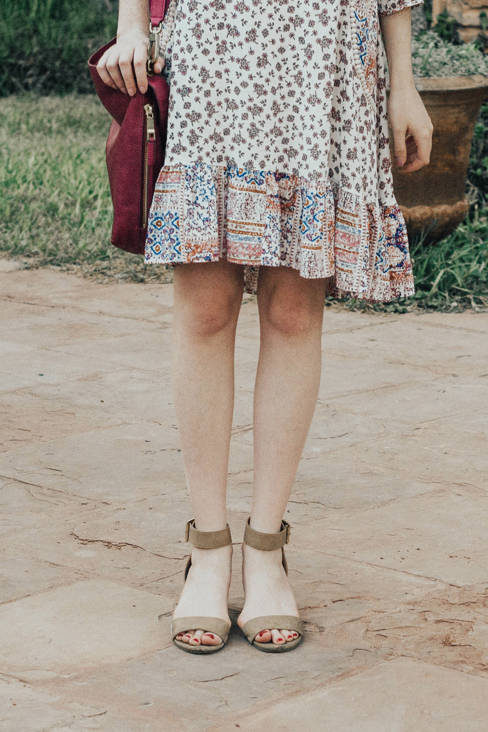 Boho Patterned Dress (via Chic Now)