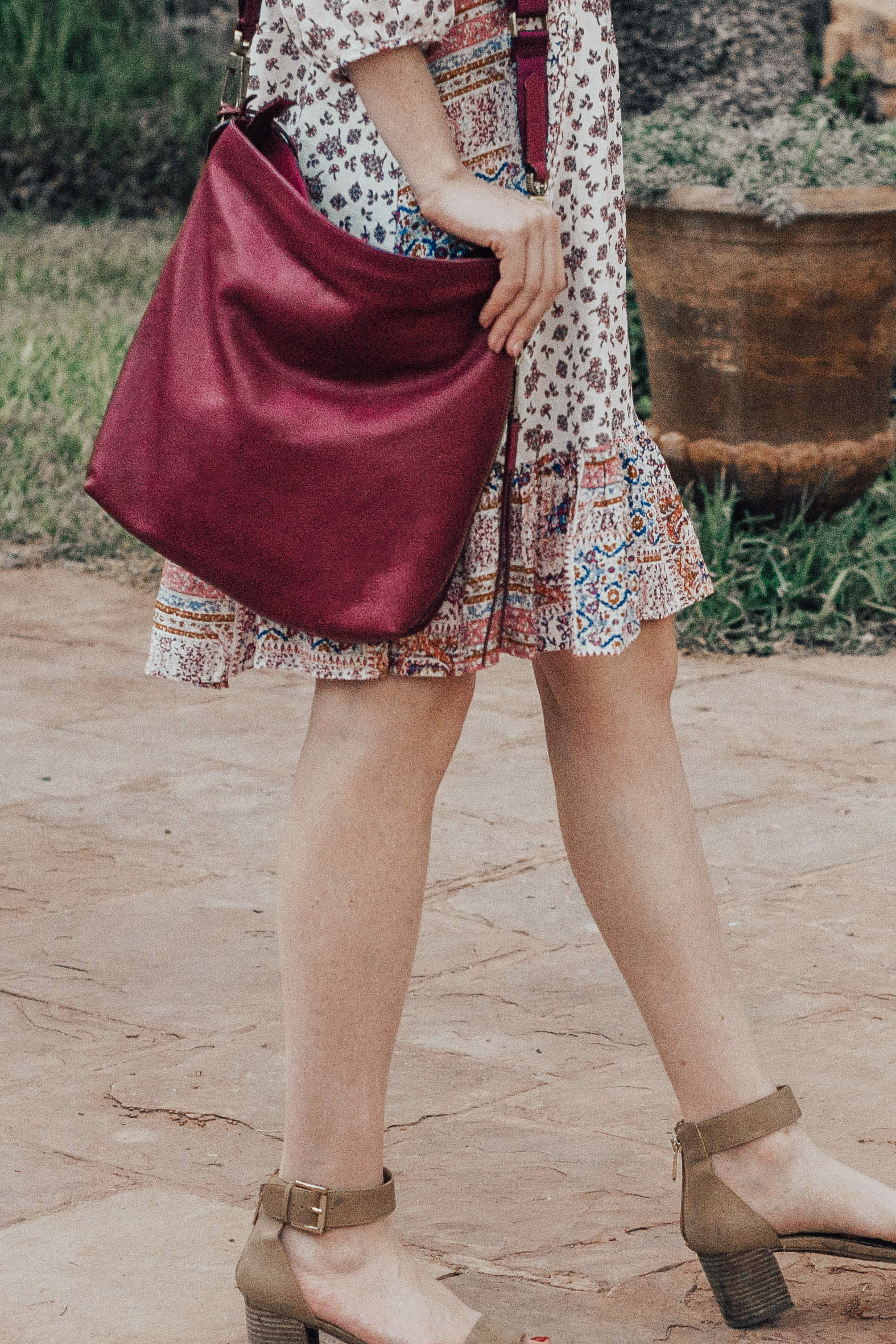 Maroon Shoulder Bag