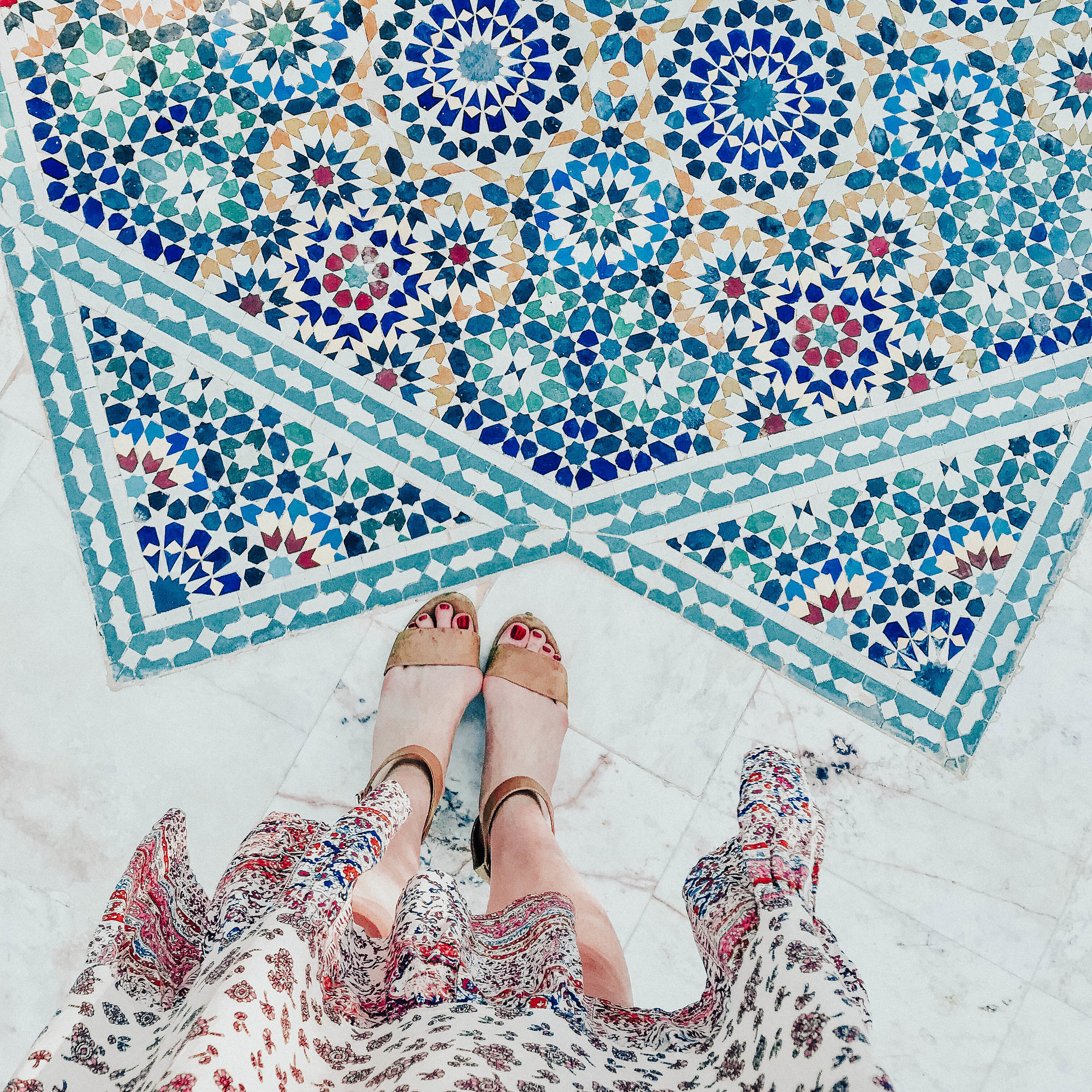 Tiles in Marrakech, Morocco