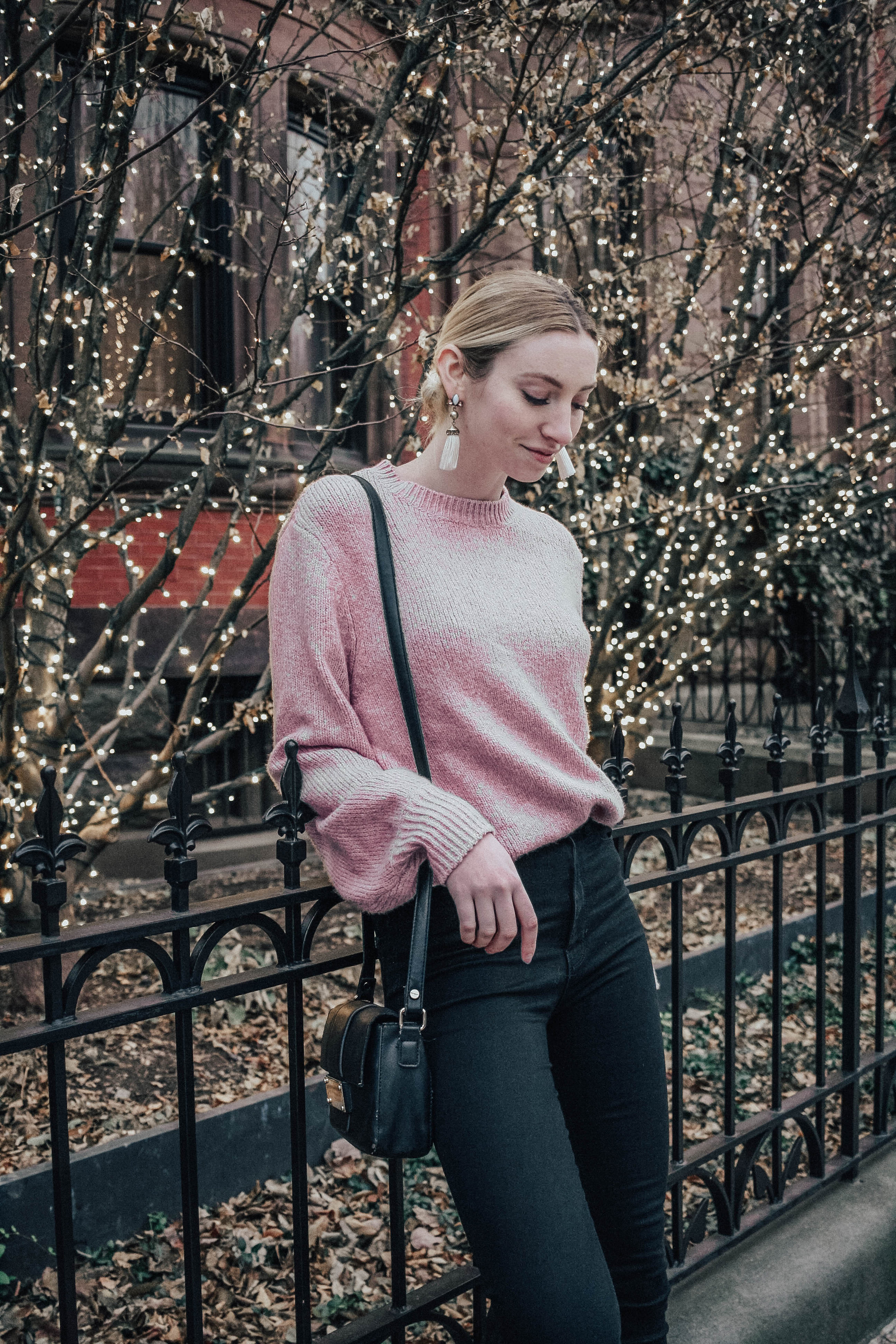 Pink Balloon Sleeve Top