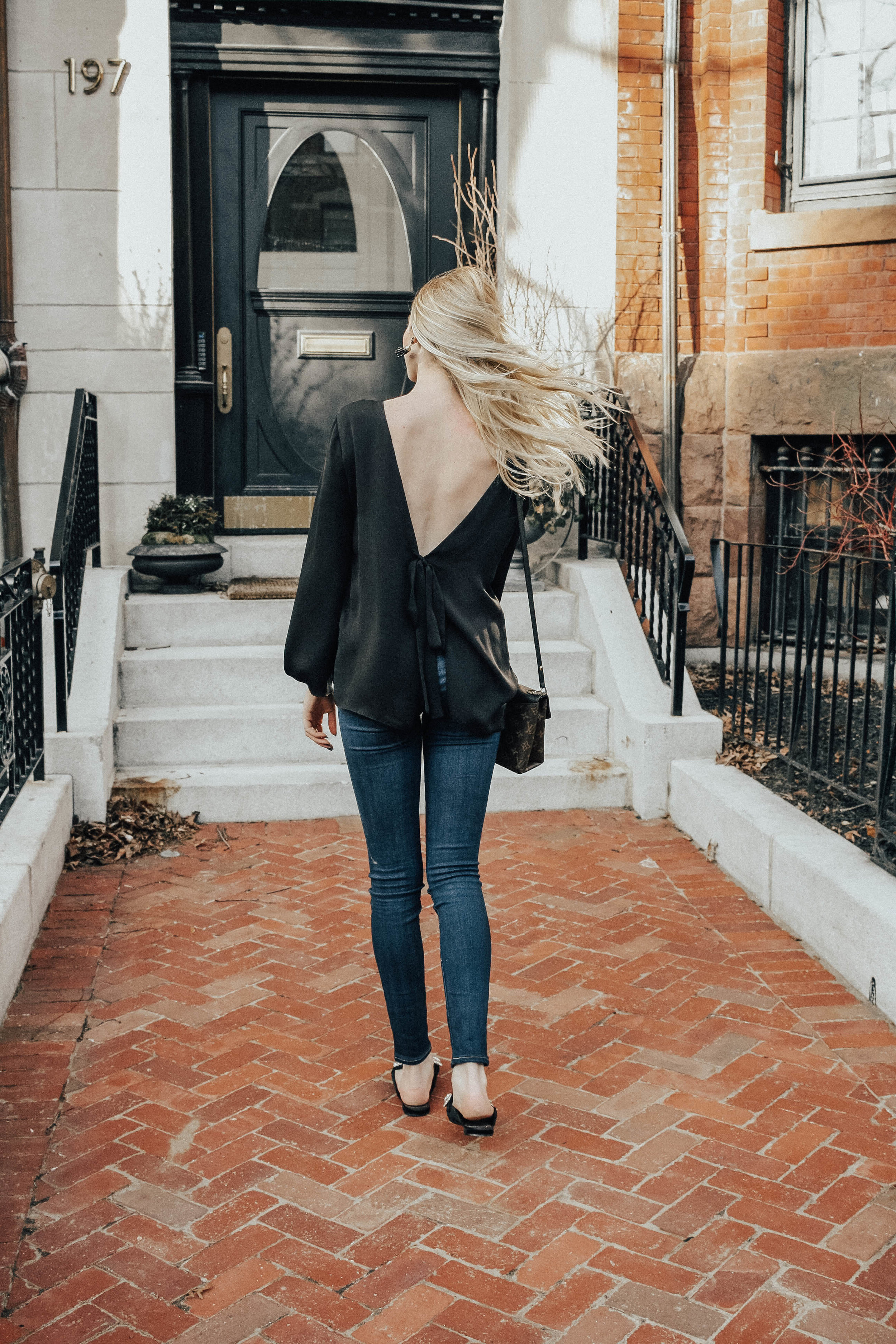 Backless Tie-Back Shirt