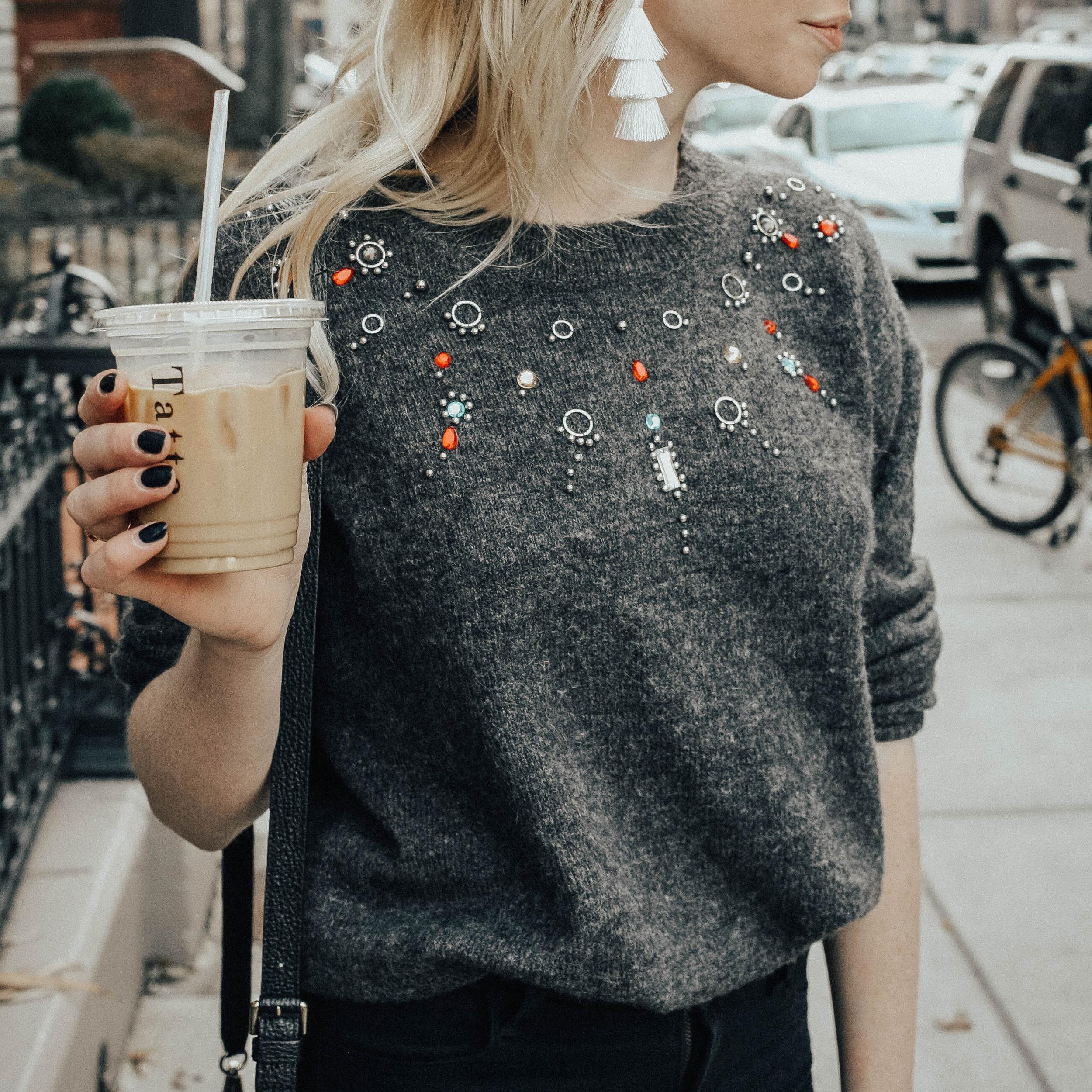 Jeweled Sweater