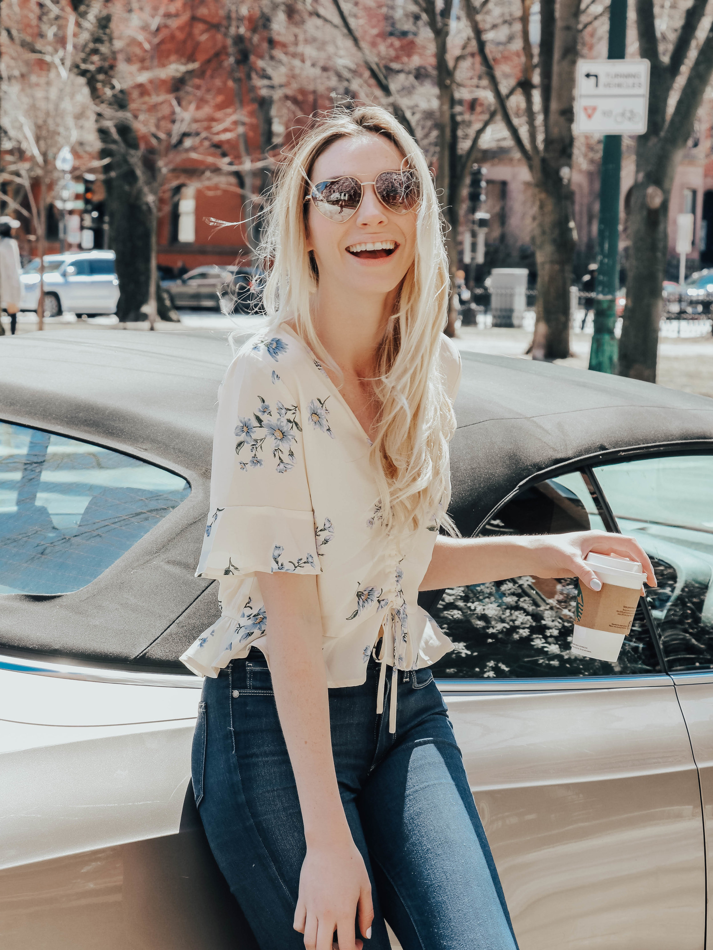 Floral Ruched Top   @maevestier