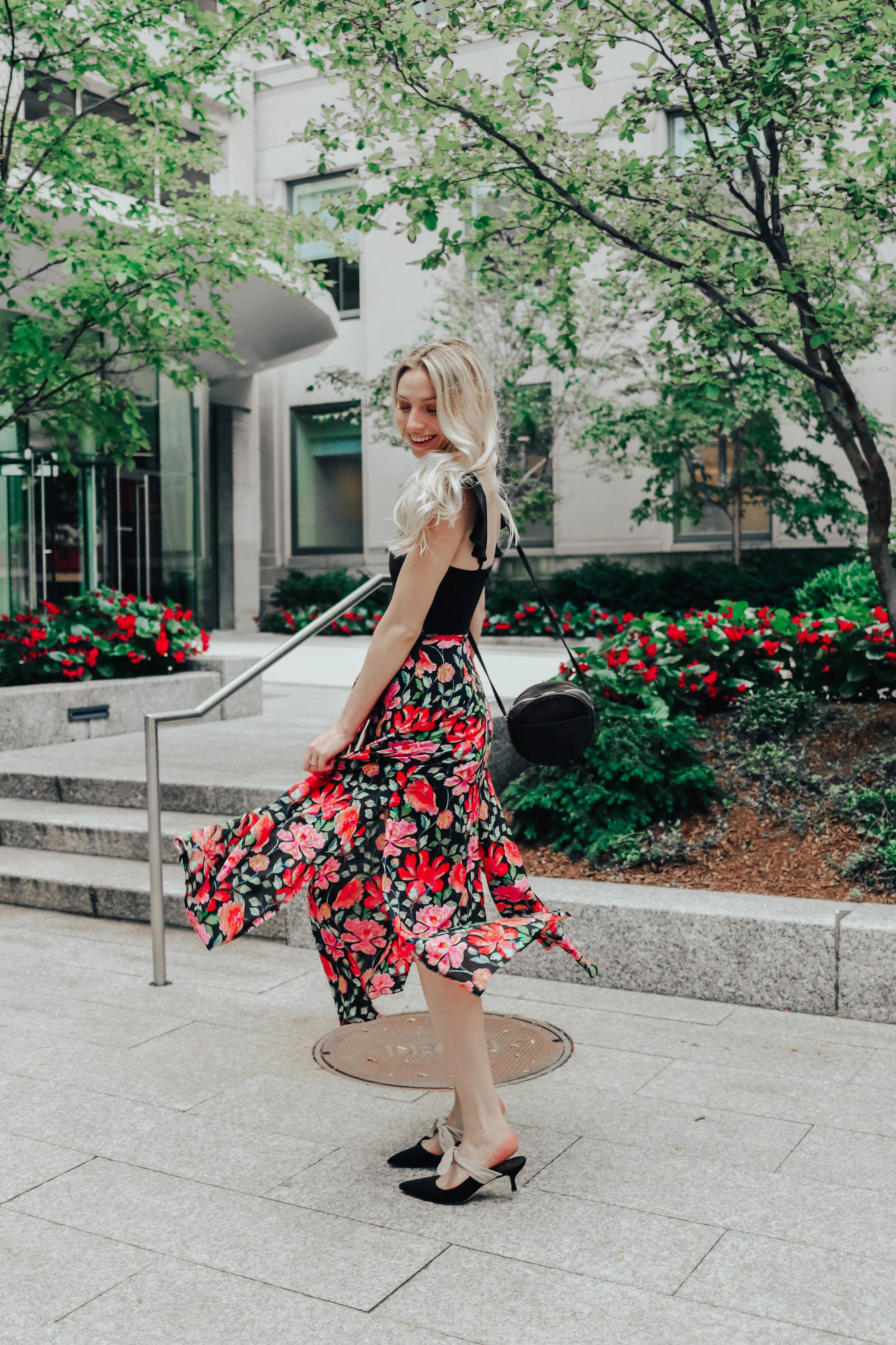 Patterned Midi Skirt | @maevestier