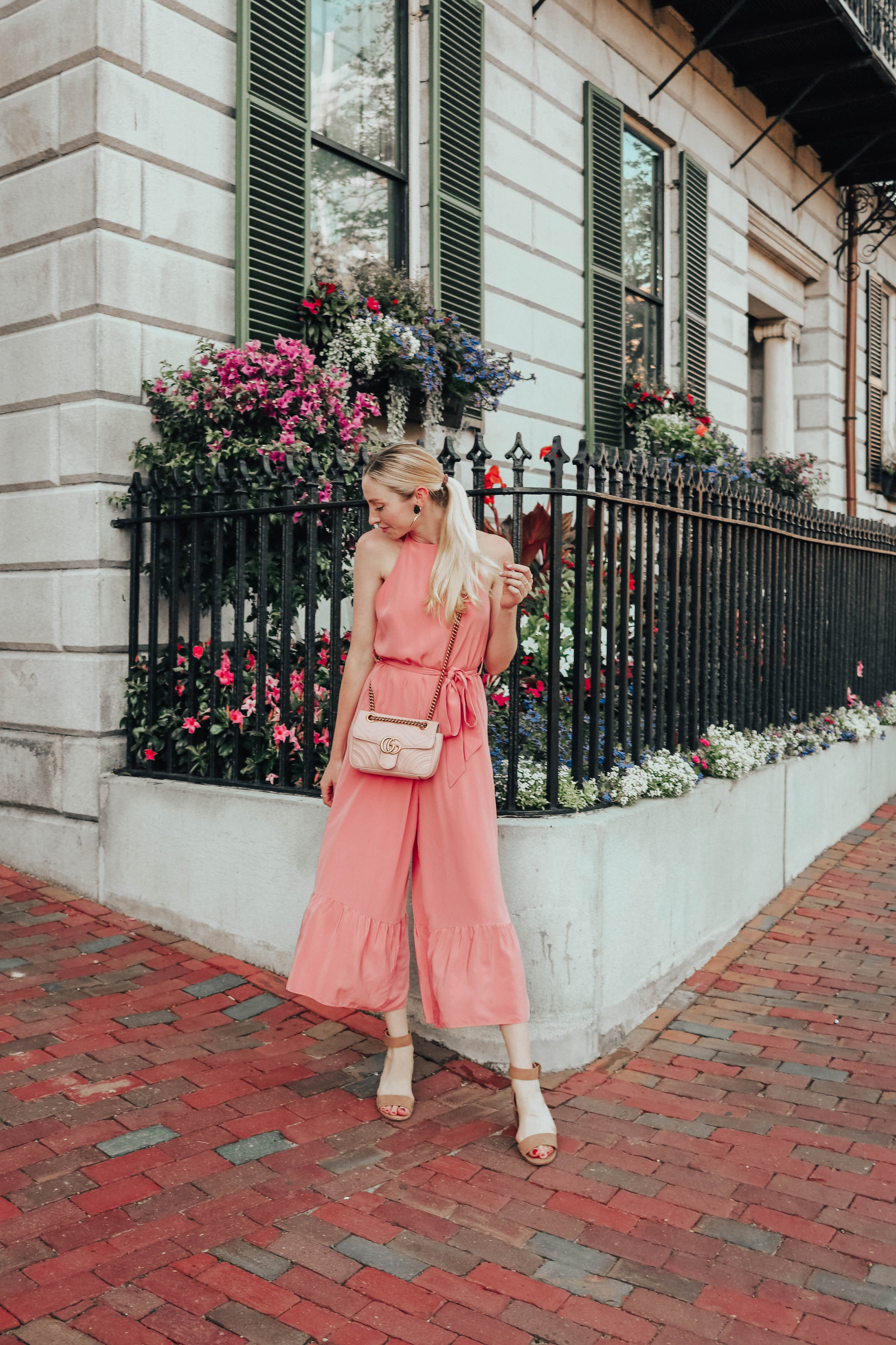 Pink Jumpsuit Outfit | @maevestier