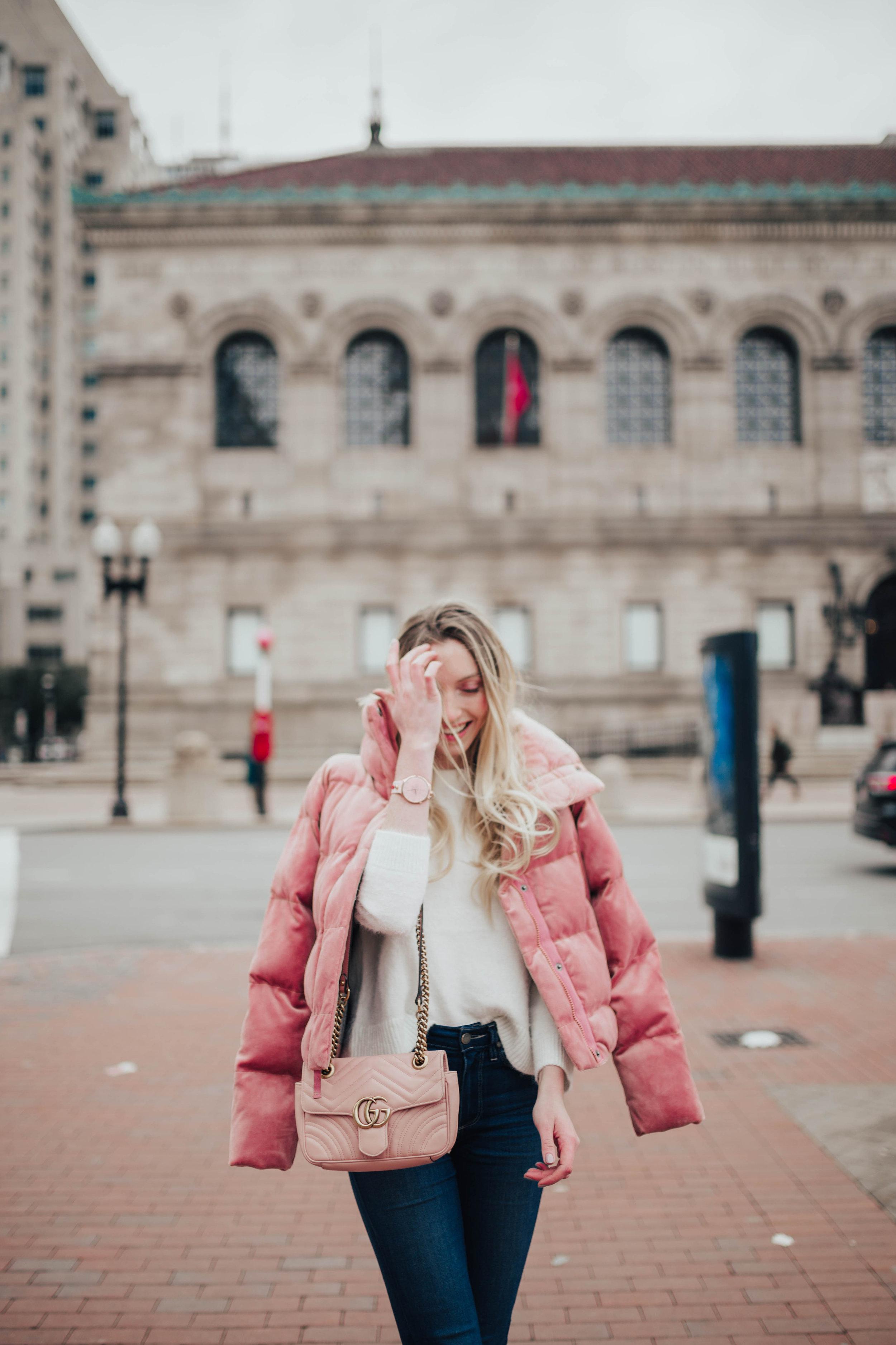 Pink Abercrombie Puffer (via @maevestier)