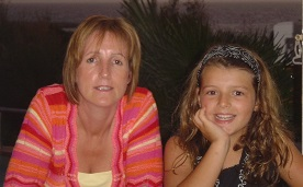 Mum and Hannah in 2006