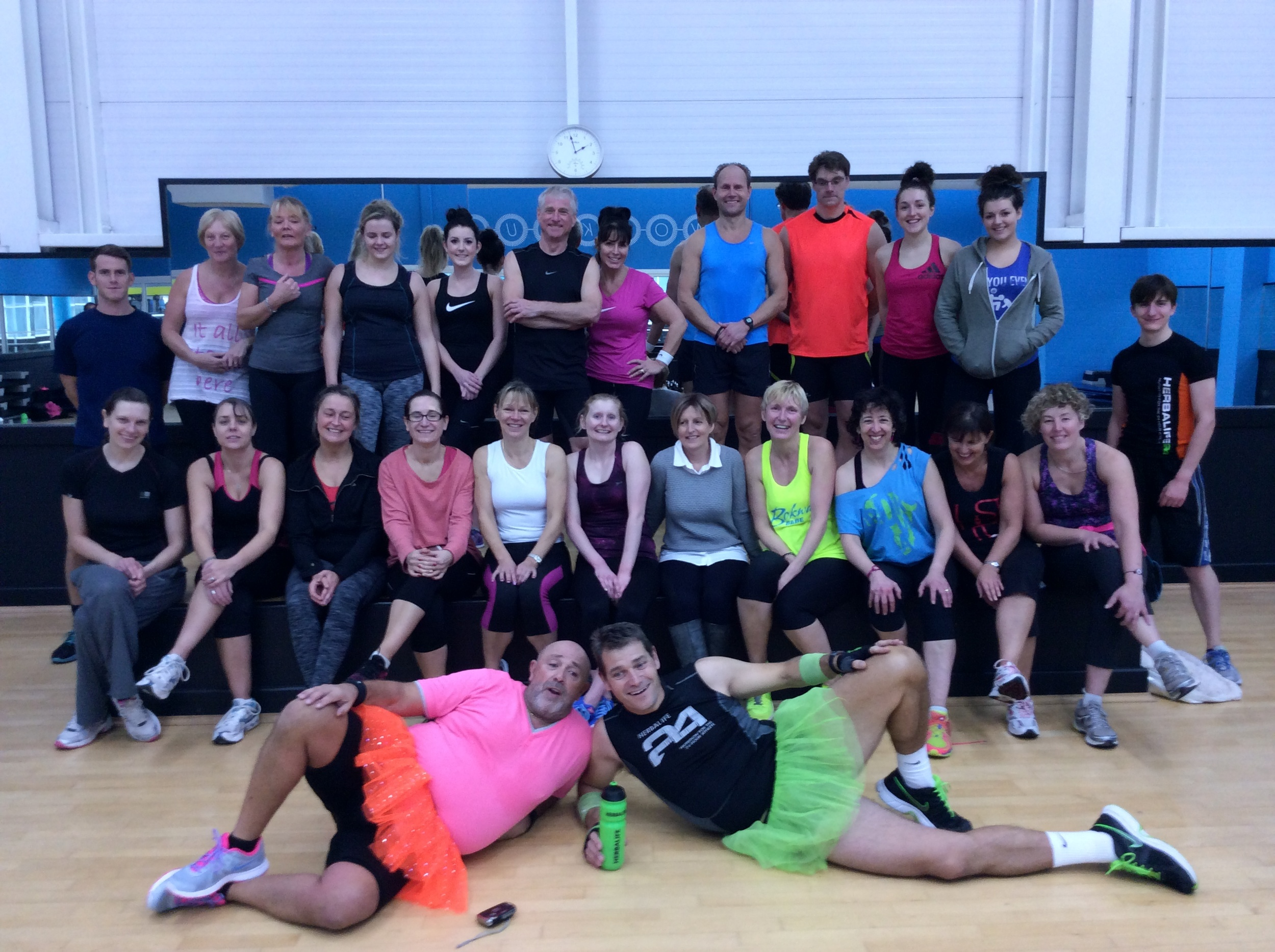 Sponsored aerobics day