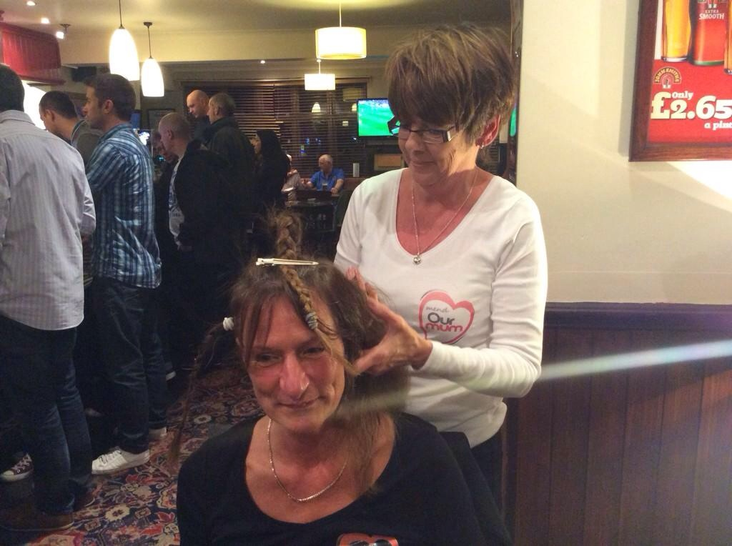The Lovely Gail losing her luscious locks for Mend Our Mum