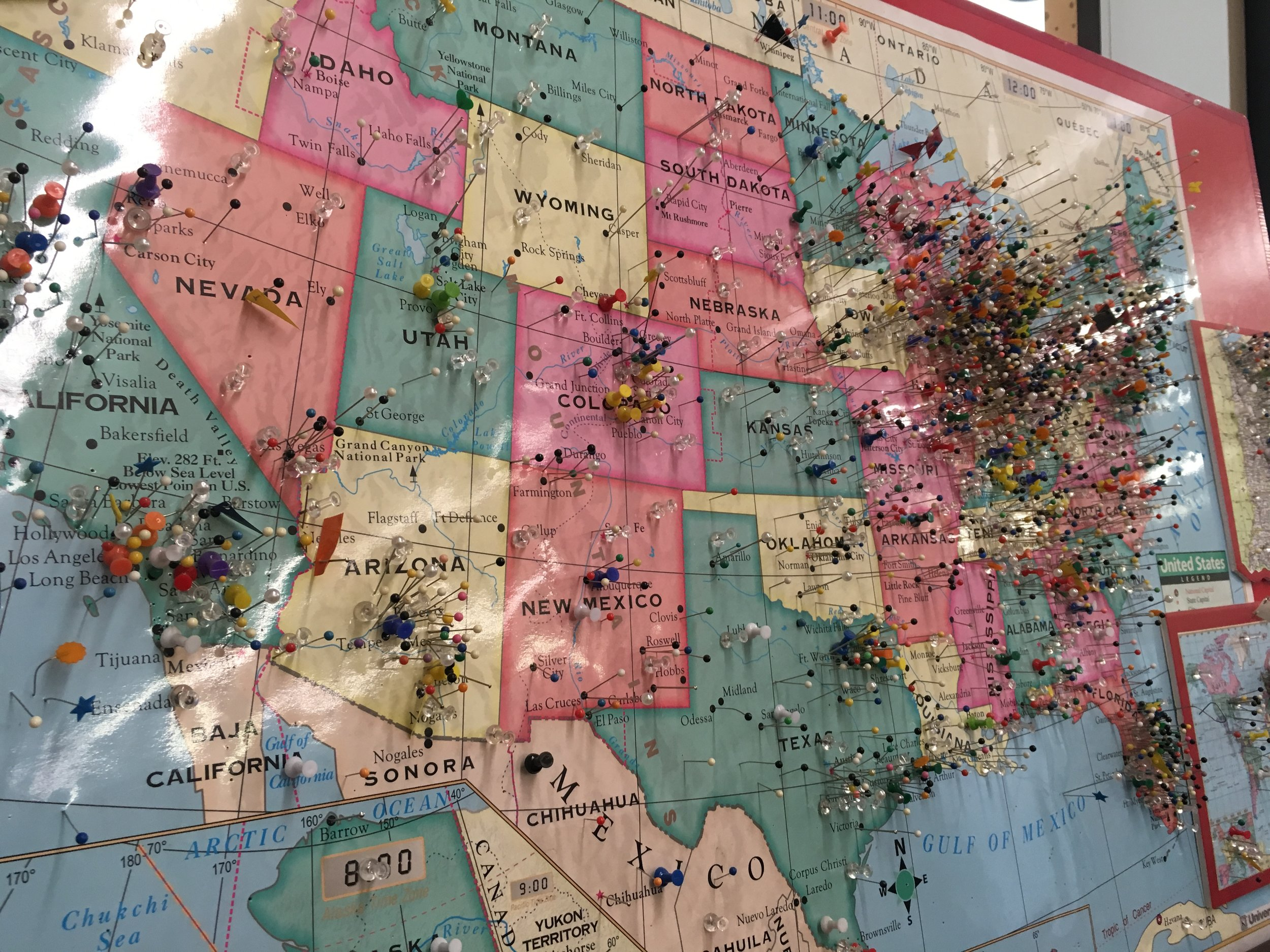 We  WELCOME  your visit the next time you are in  Northern Indiana . We have frequent visitors from all over the US and the World. Be sure to put your pin in our map on your next visit. We have two locations for your convenience, Wakarusa, IN and Mishawaka, IN