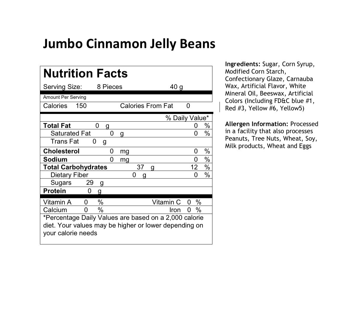 Jumbo Cinnamon Ingredient