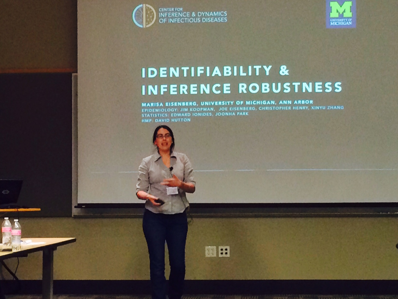 Marisa Eisenberg, one of the presenters from University of Michigan. (CIDID/Policy Studies)