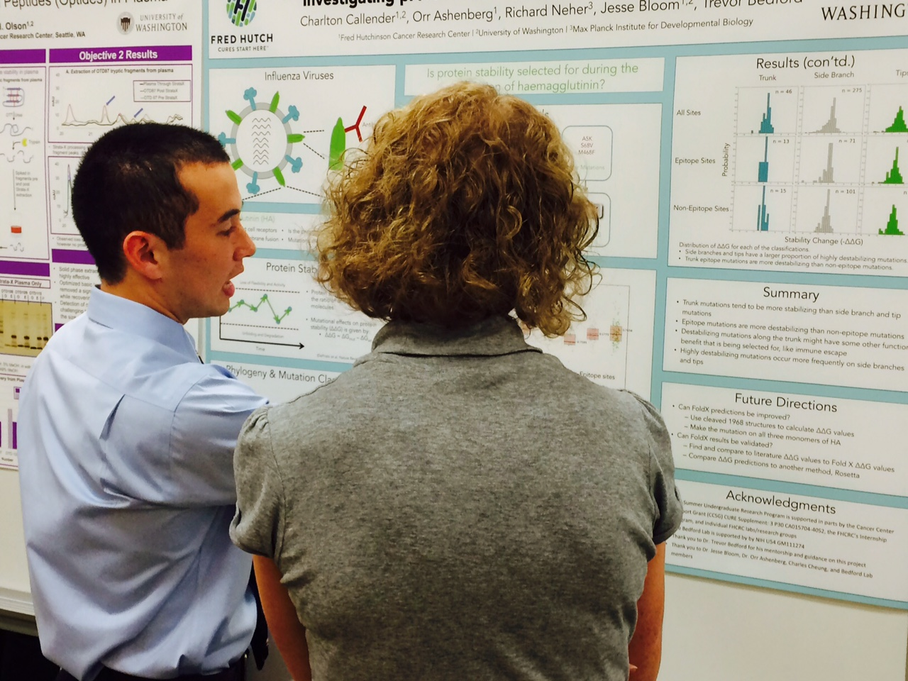 Charlton presenting his poster.