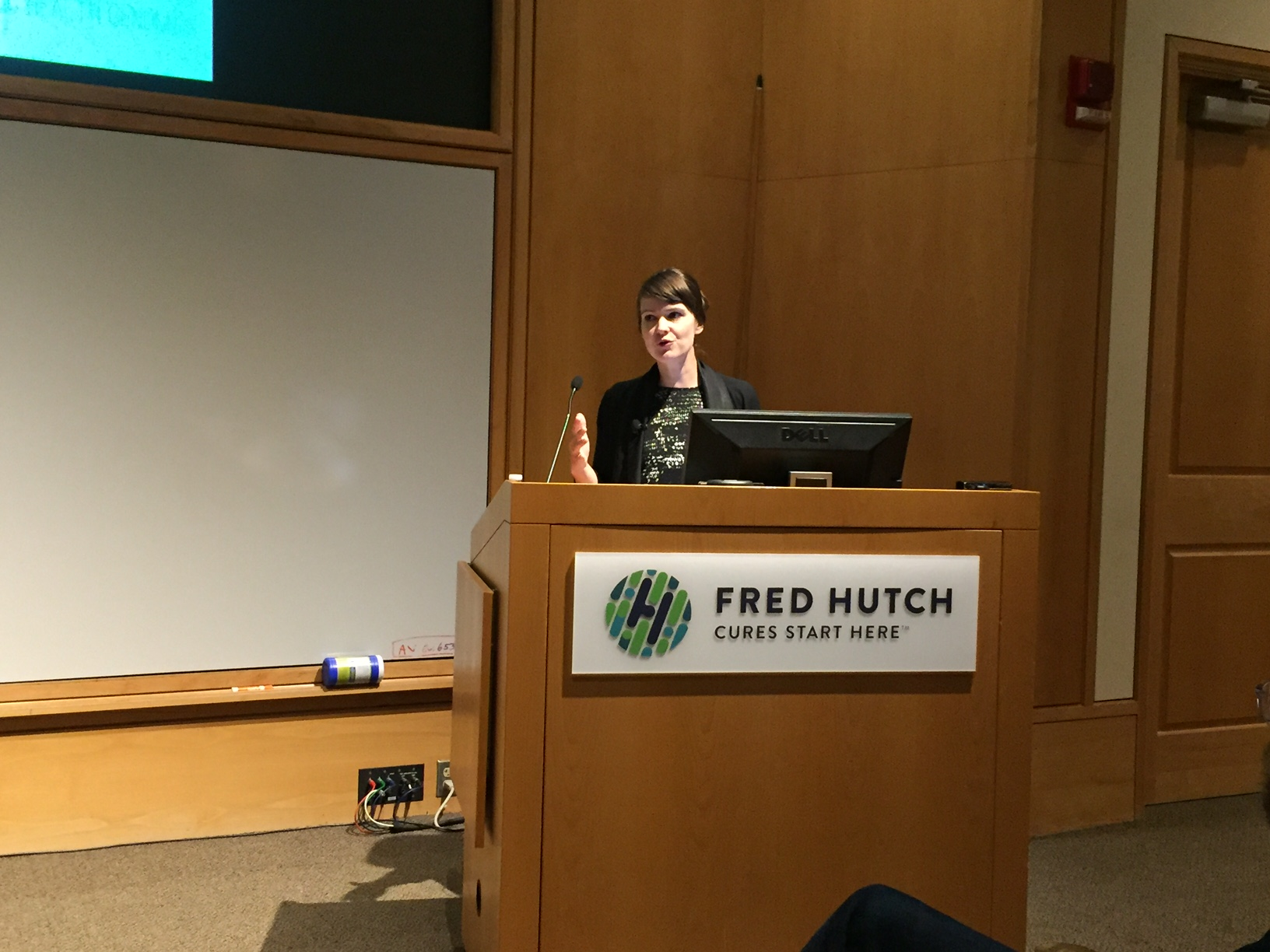 Jennifer Gardy presenting at Fred Hutch.