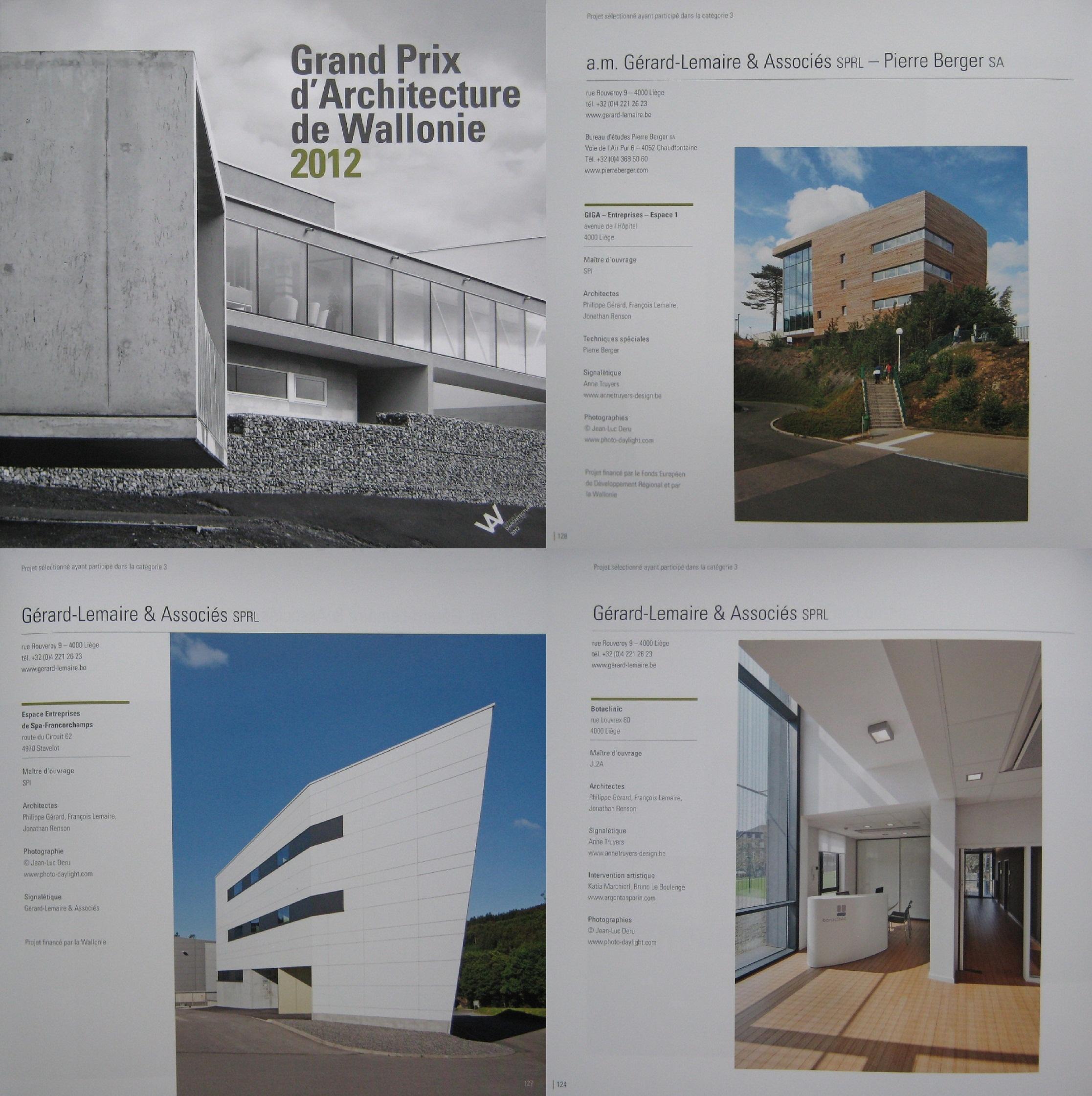 GRAND PRIX D'ARCHITECTURE DE WALLONIE 2012