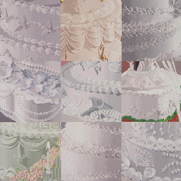 White on White (Nine Sections of Wedding Cake)