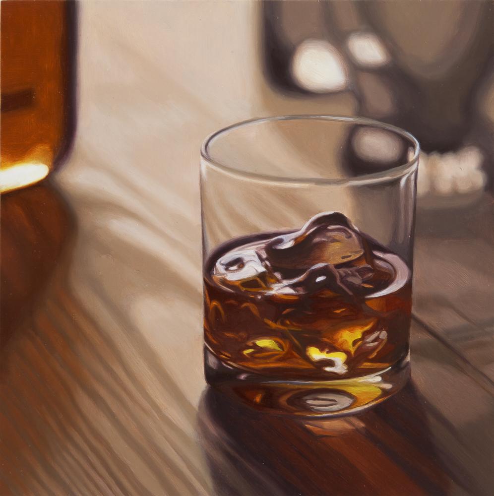 Scotch, Rocks (Wood Table Top)