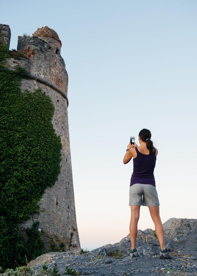 Chelsea photographing the Doria castle.
