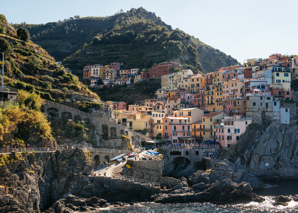Town of Manarola, one of the 5 towns that make up Cinque Terre.