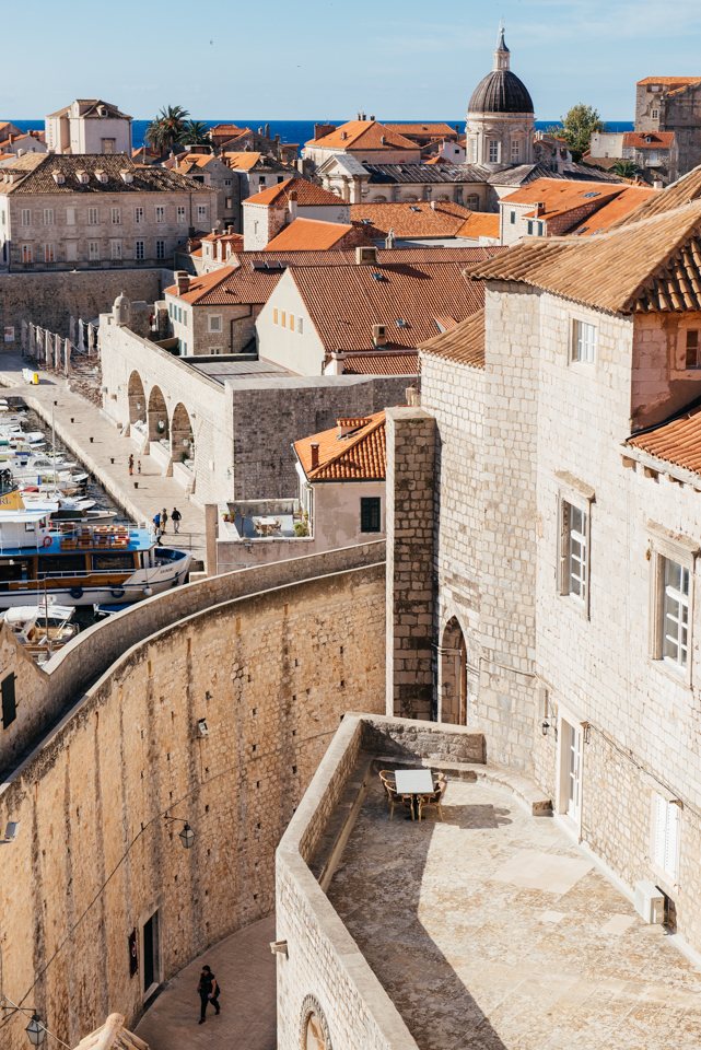 The walls and old port of Dubrovnik.