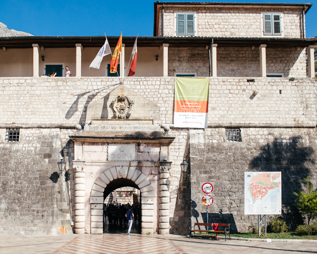 The Maritime Gate in the city walls of Kotor.