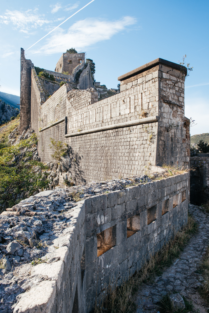 The walls were constructed from the rocky terrain. They range from 2-16 meters thick and are about 20 meters high.