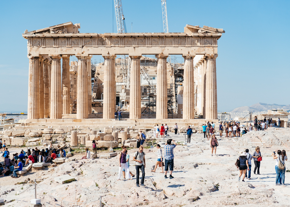 The Parthenon is visited by thousands of visitors every day.
