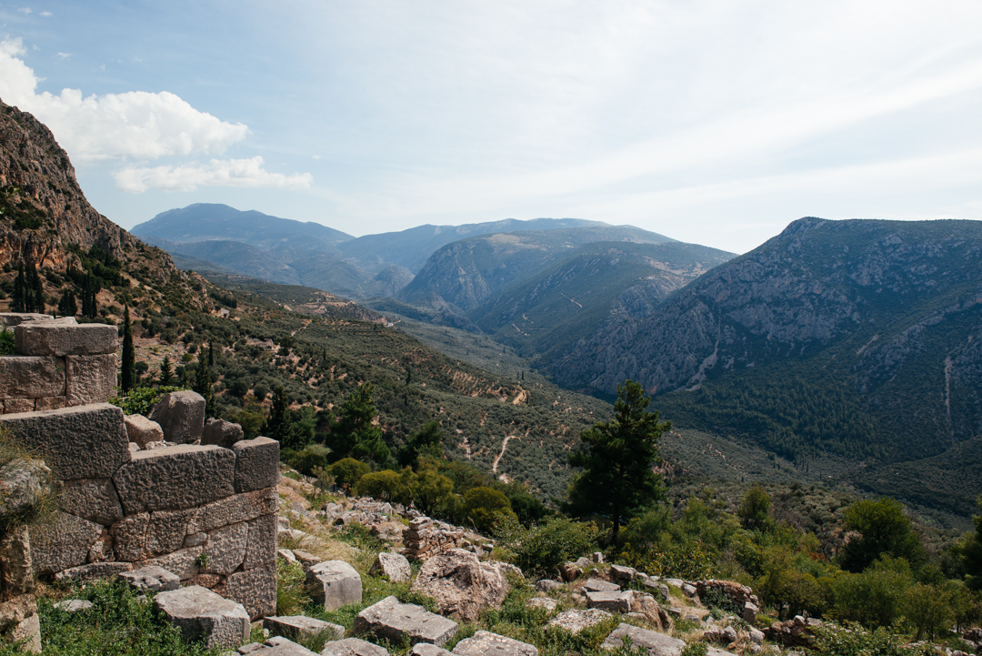 A view of the valley of Phosis from the grounds of Delphi.