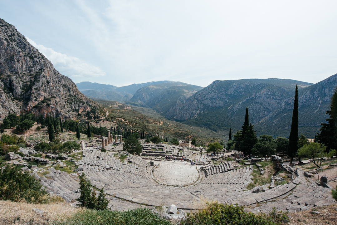 The theater of Delphi.