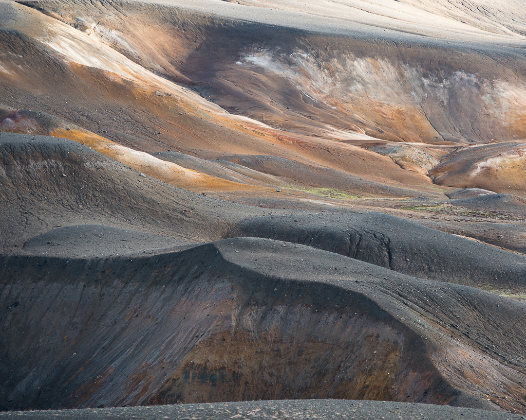 Landscape of the Krafla volcano.