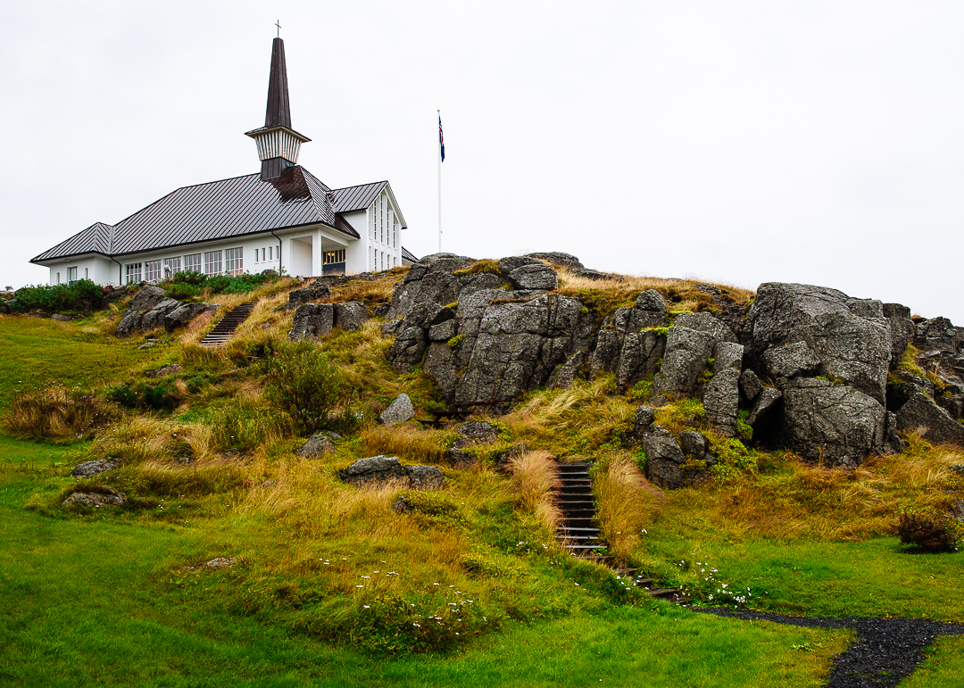 Church built on the highest point of the town so people can always find it.