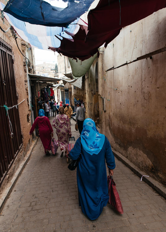 The narrow streets of the medina.