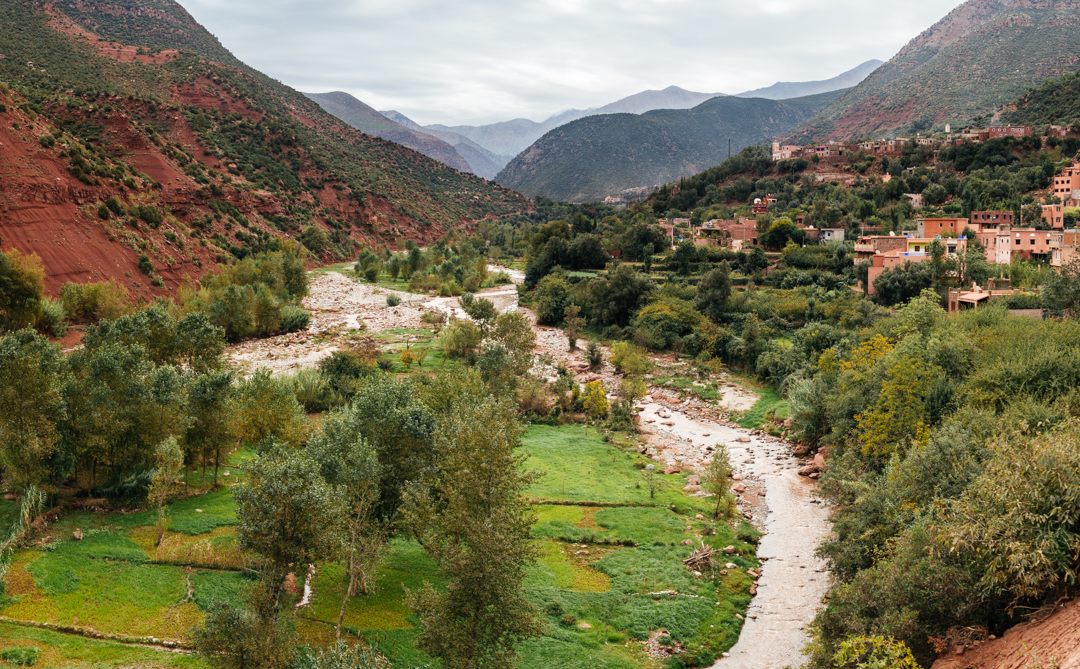 The Ourika Valley as we approach the Atlas Mountains.