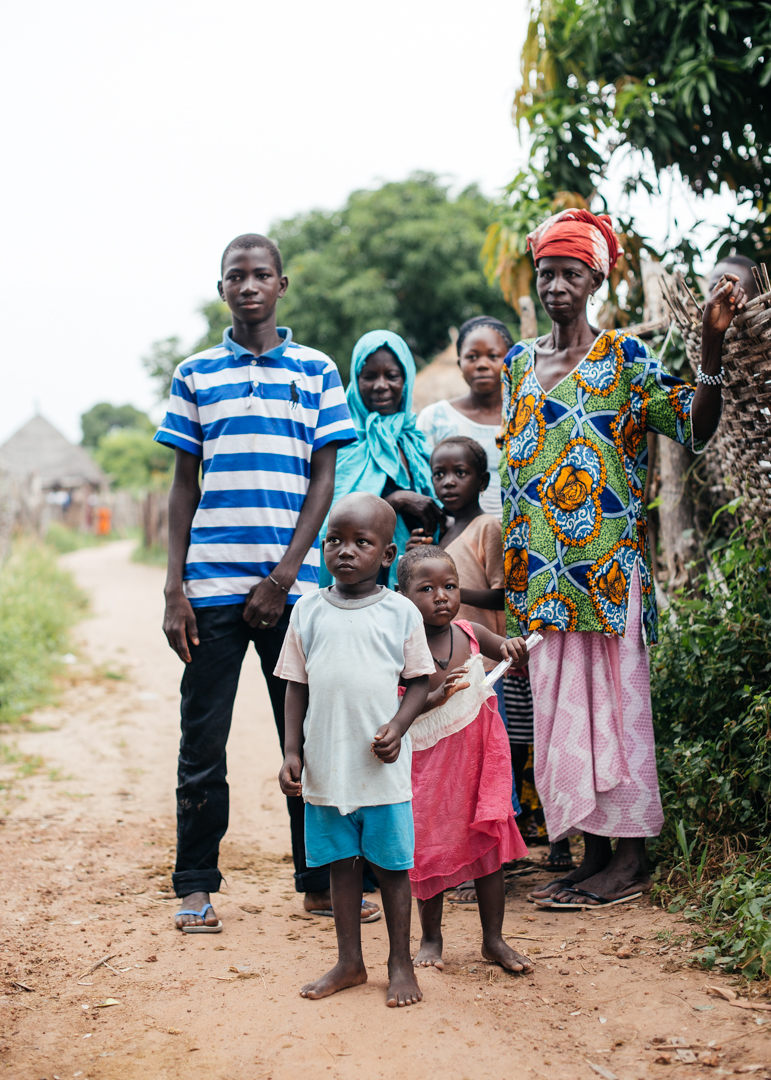 A family from the village we broke down in front of, who came out to see what all the commotion was about.