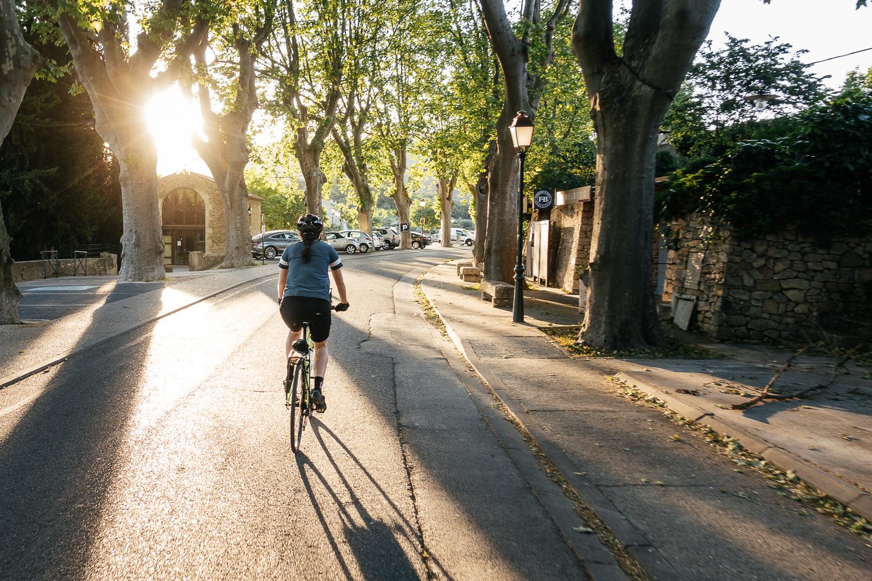 Biking out of Lourmarin.