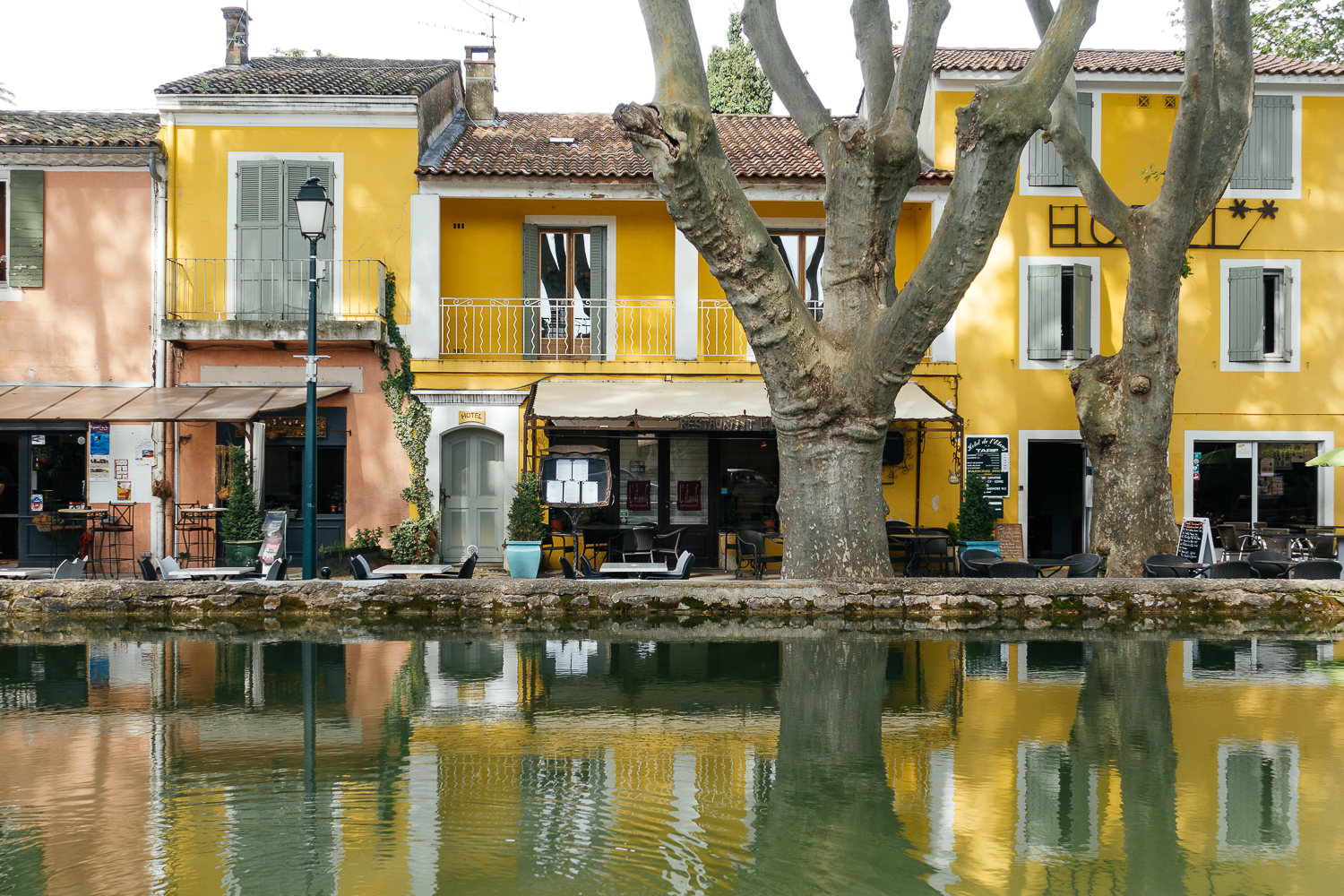 Cucuron and its spring-fed pool in the center of town.
