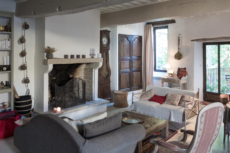 La Charmille living room.