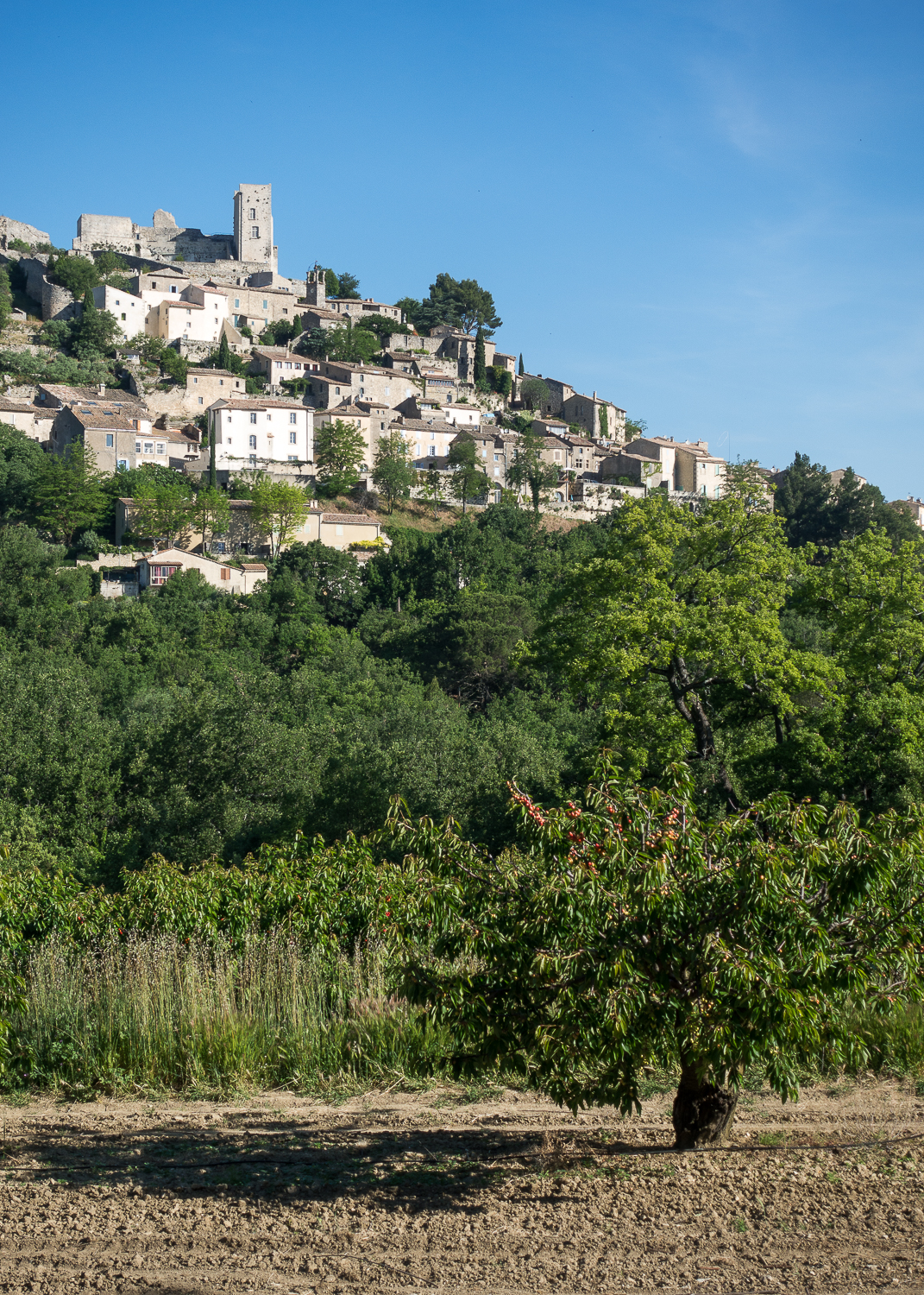 View of Lacoste, France.