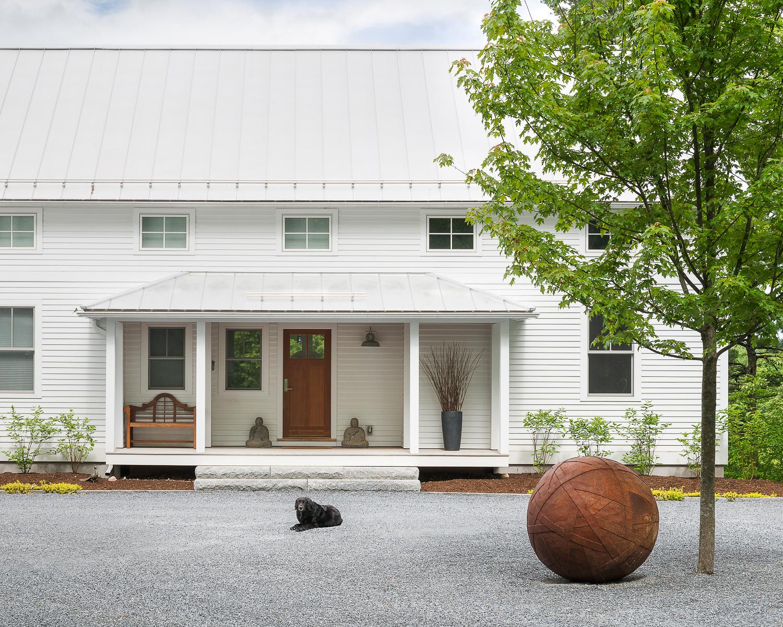 Modern farmhouse entrance.