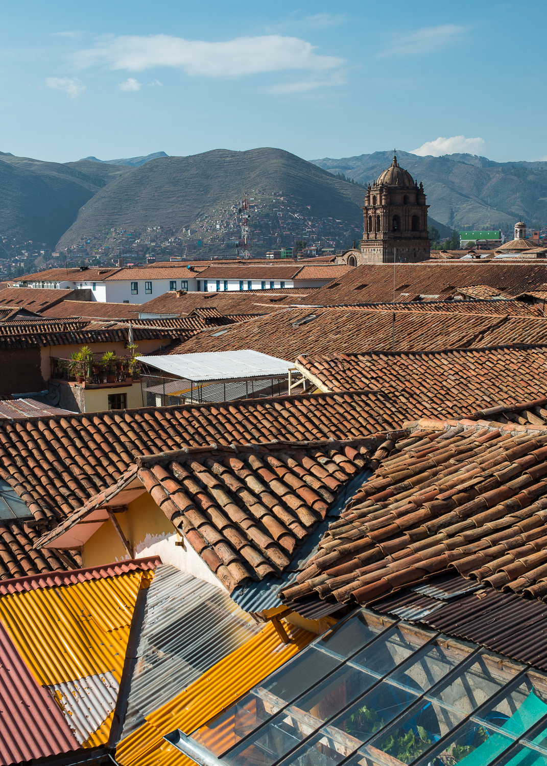 Church of Cusco above the city rooflines.