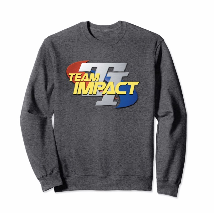 Team Impact Retro Logo Sweatshirt - The original Team Impact logo on a high quality sweatshirt available in four colors.
