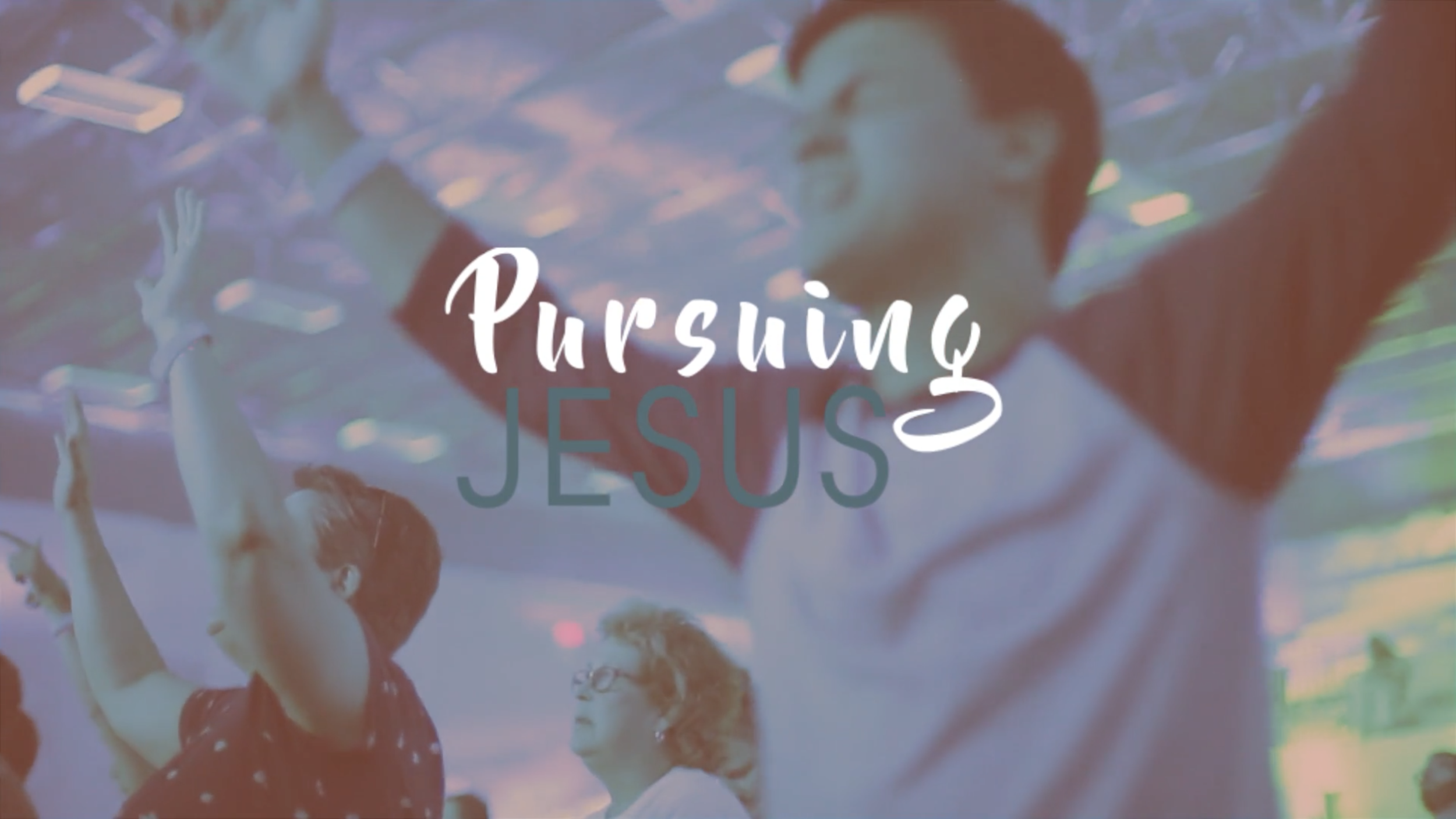 PURSUING Jesus - PURSUING Jesus means that He comes first in our lives. A PURSUING Jesus Church trusts in following His lead in all aspects of our lives and church.
