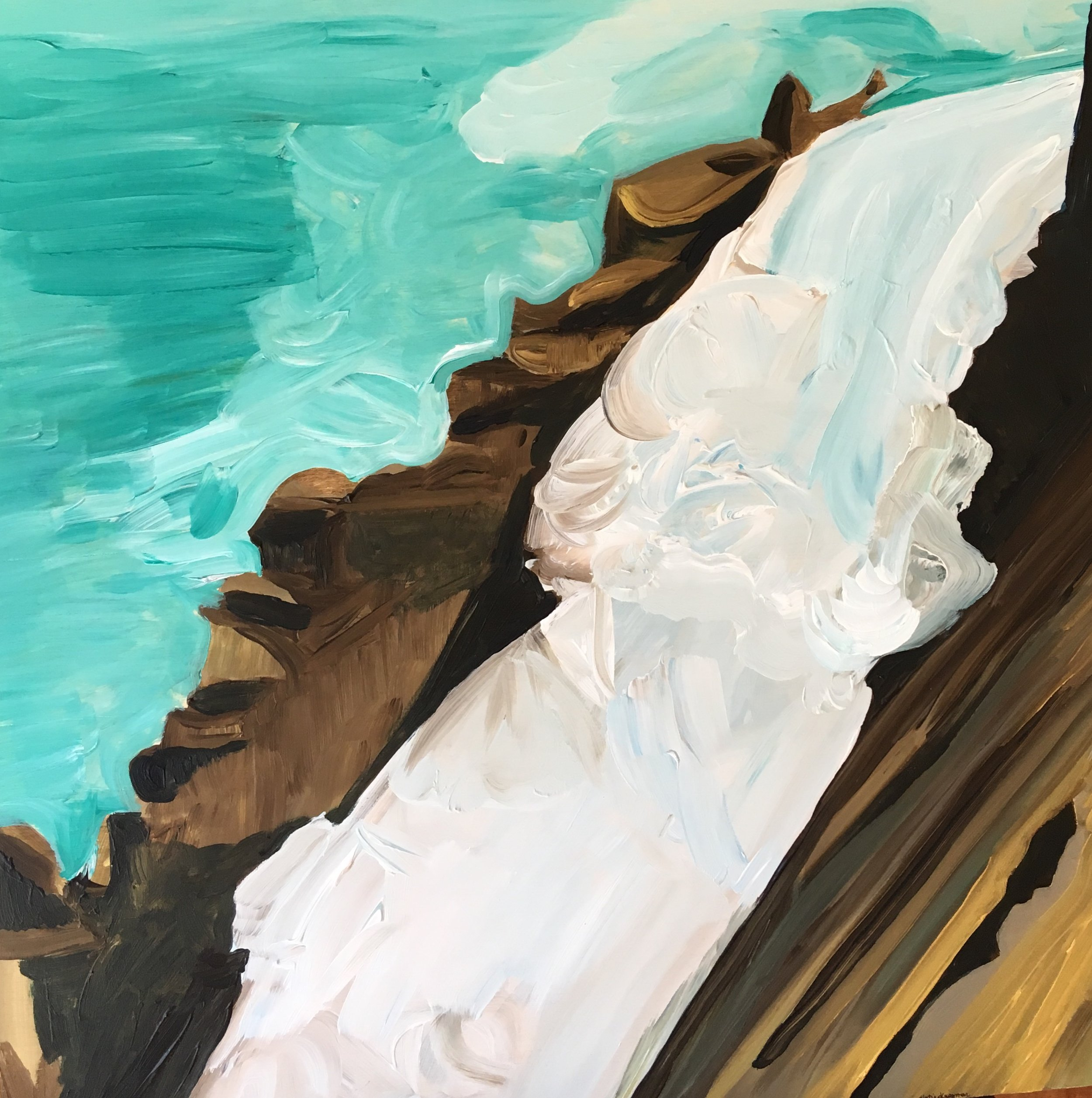 "Rendering of Ansel Adams: ""Nevada Fall, Yosemite National Park"""