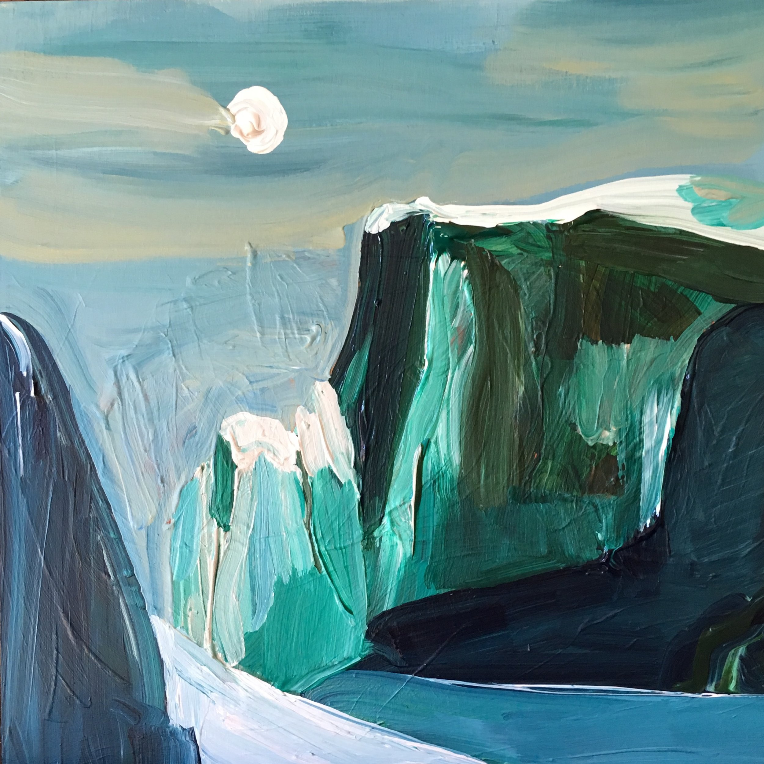 """Rendering of Ansel Adams: """"Moon and Half Dome"""""""