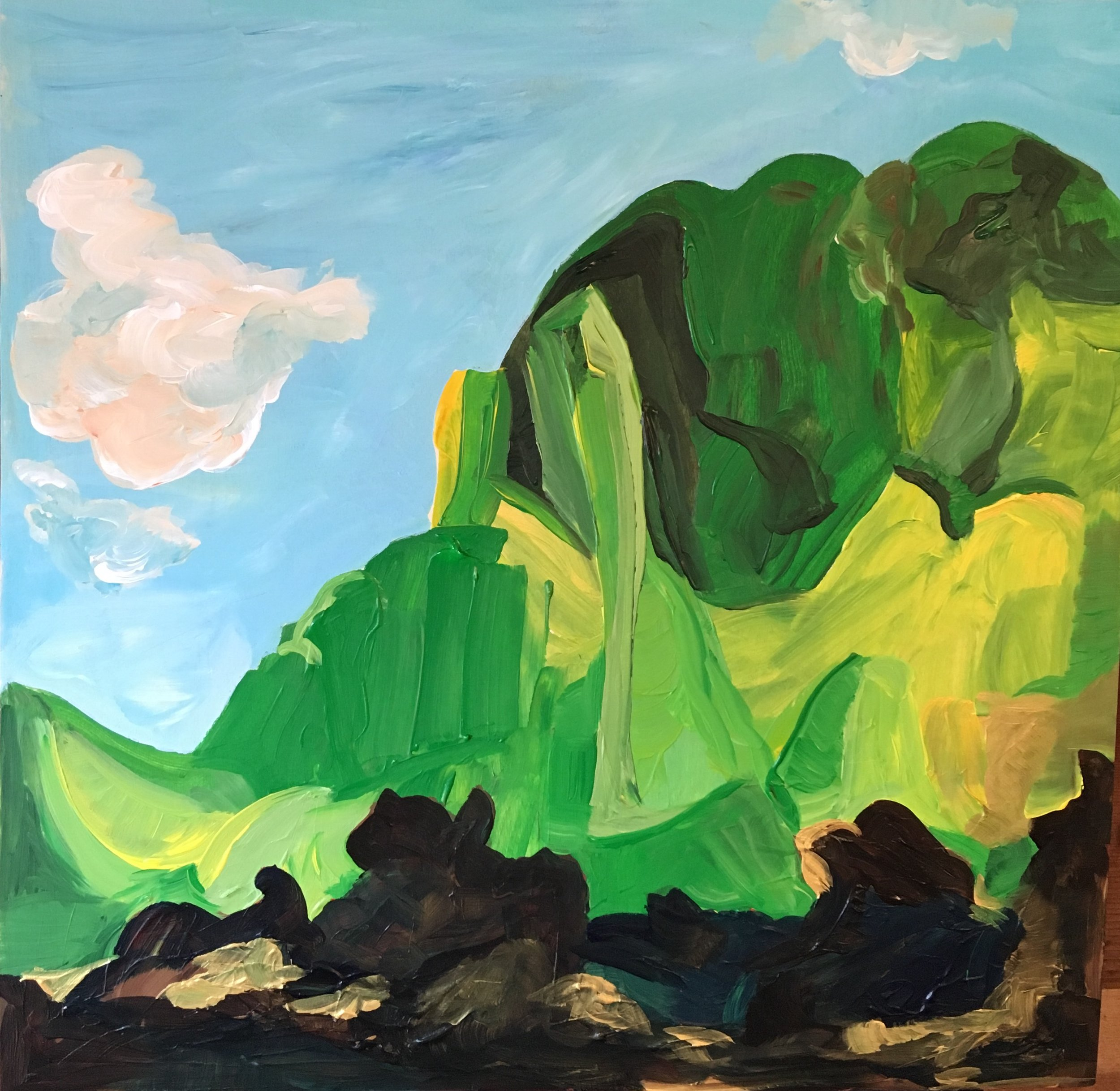 Rendering of Ansel Adams: North Dome, Kings River Canyon, California