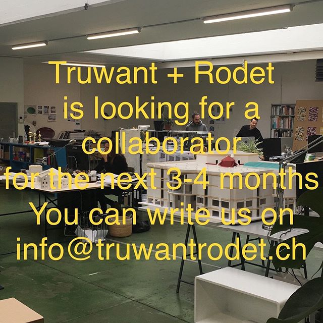 @truwantrodet is looking for a collaborator in Basel for the next 3-4 months. You can write us on info@truwantrodet.ch