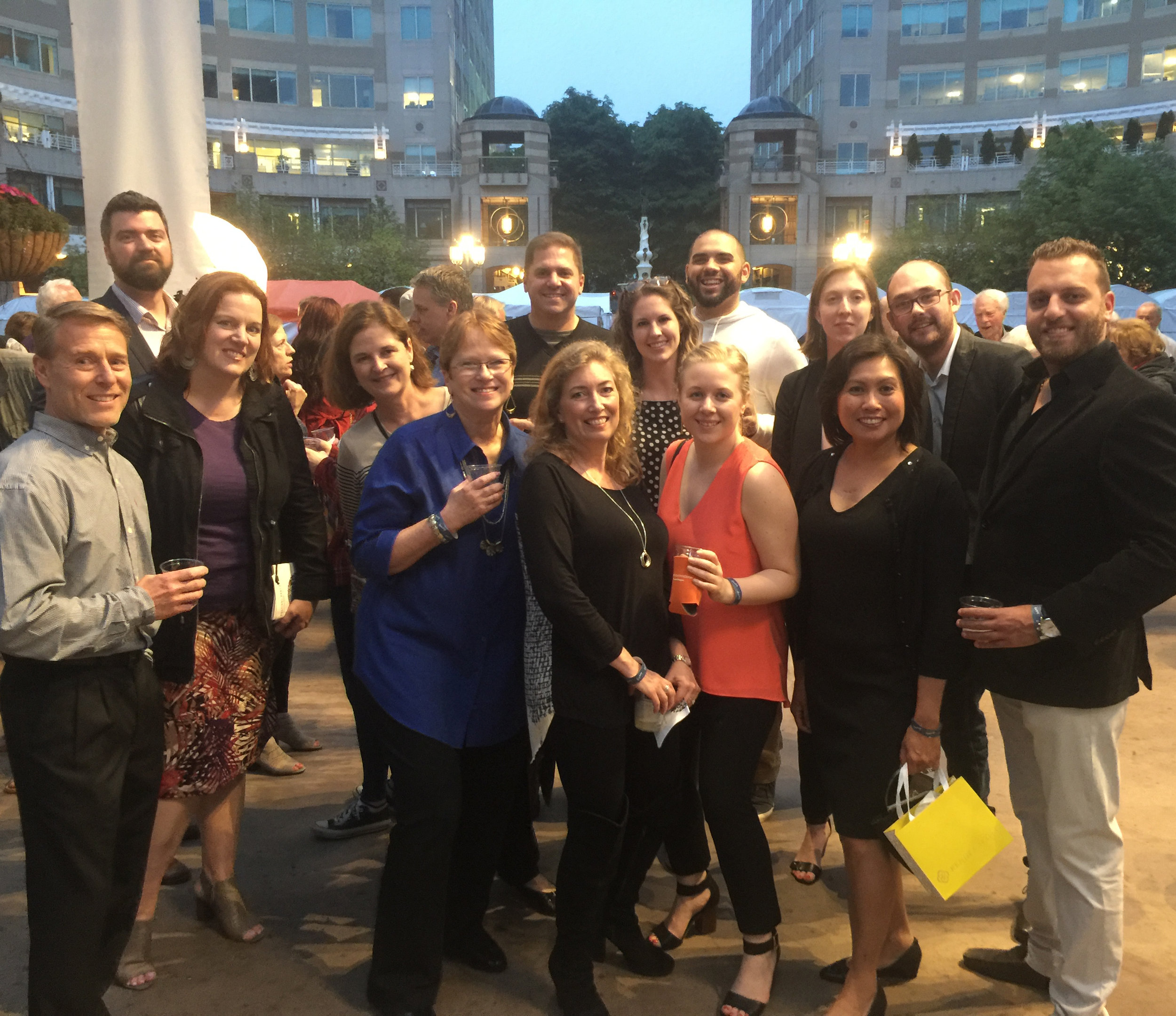 M Group team members and their guests enjoying the Festival Party on Saturday evening.
