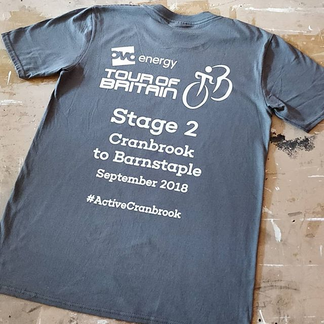 4 days to go before Tour of Britain comes to Cranbrook 🚴🚴🚴 #cranbrook #activecranbrook #screenprint #tshirtprinting #ovoenergy #ovotob #tourofbritain #devon #roarclothinguk